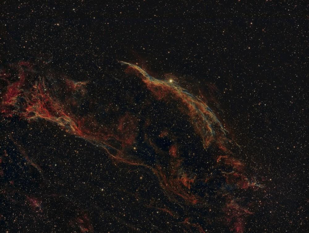 The  Veil Nebula, Bi-color