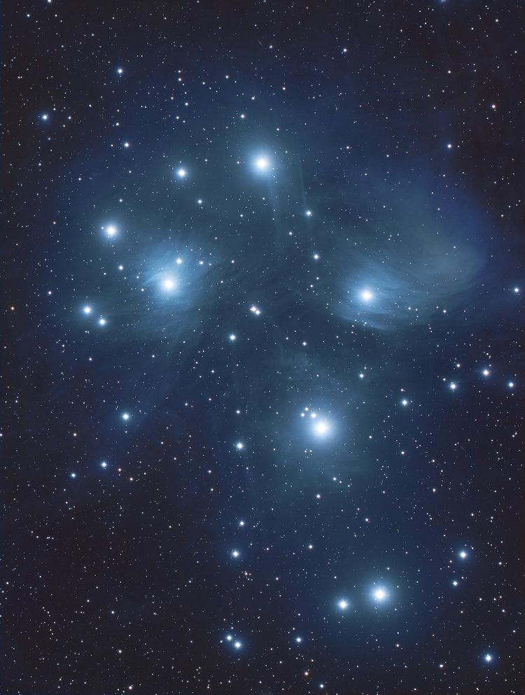 M45, The Pleiades: Kissimmee Prairie Preserve, Fl
