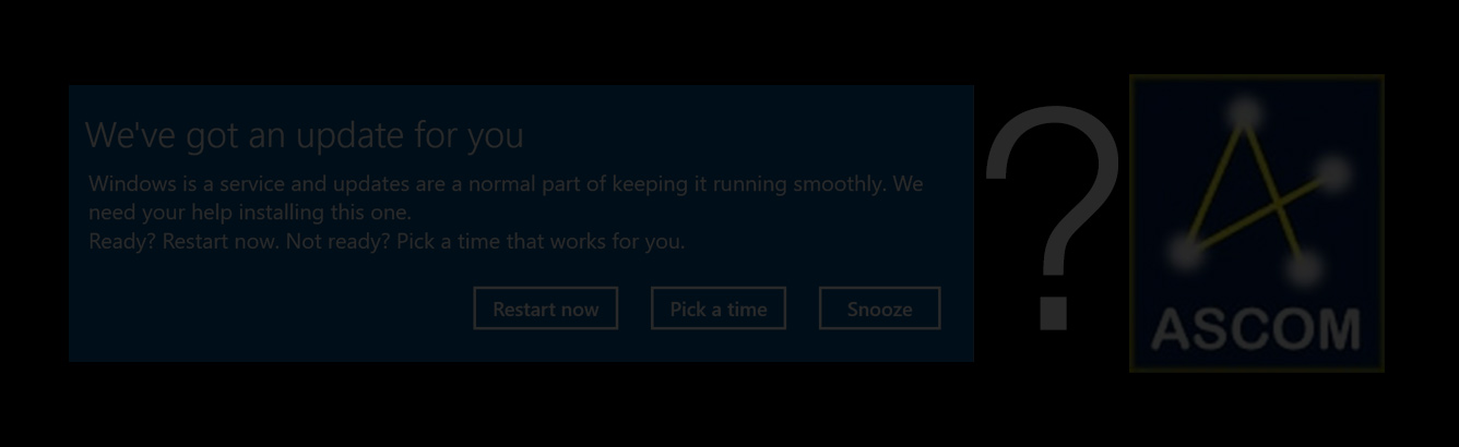 Microsoft Windows 10 security update, causes ASCOM drivers to crash