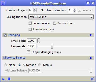 HDRWaveletTransform Tool