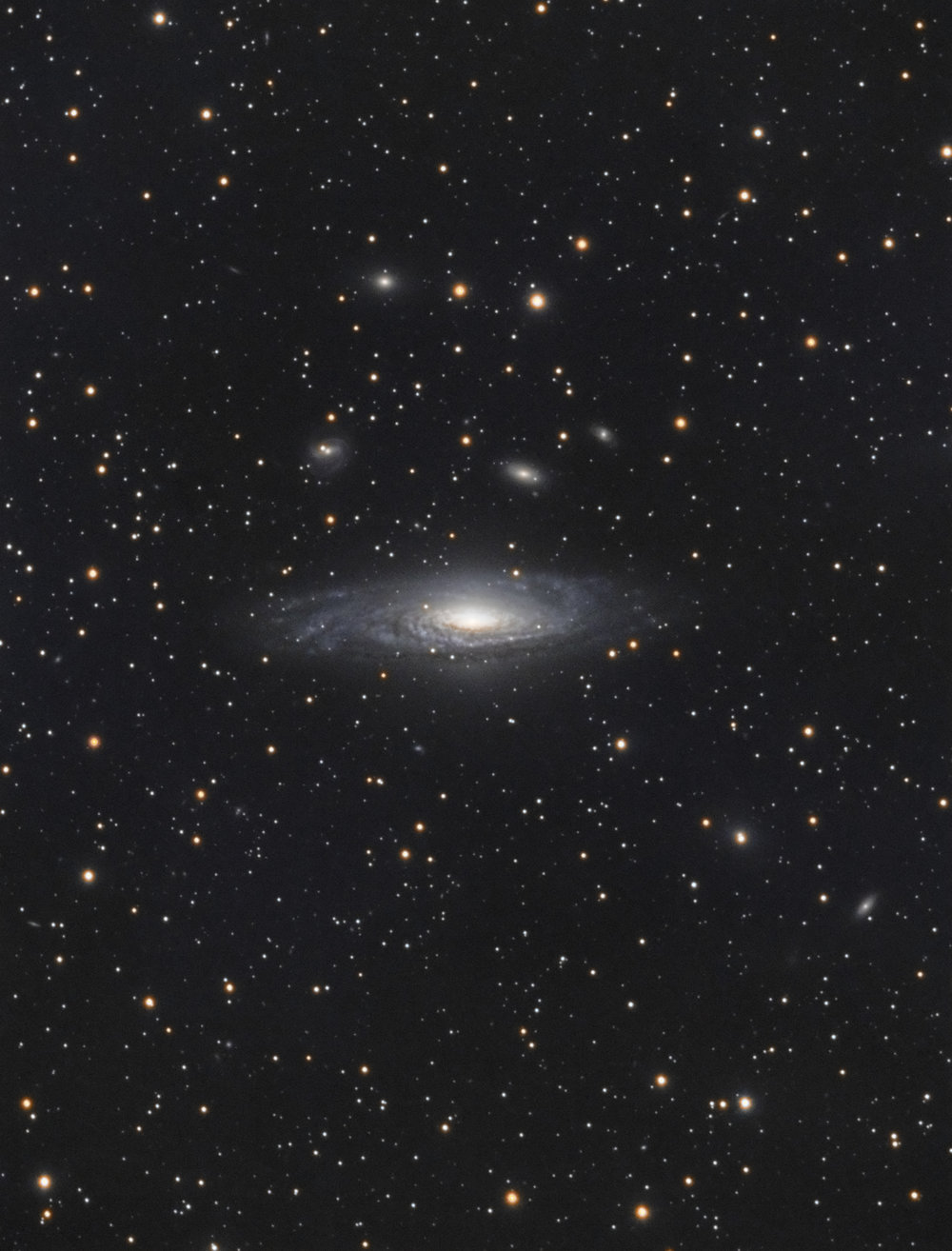Deer Lick Group - NGC 7331 Group is a group of galaxies in the constellation Pegasus. Spiral galaxy NGC 7331 is the brightest member of the group. This group is also called the Deer Lick Group, and contains four other members; NGC 7335, NGC 7336, NGC 7337 and NGC 7340, affectionately referred to as the