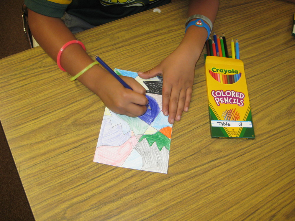 Grade 5 Colored Pencil Abstract Designs