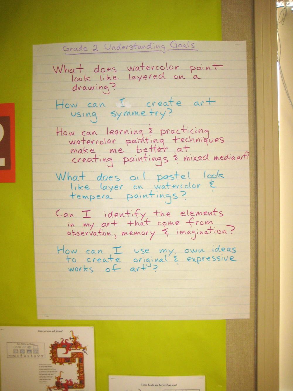 Understanding Goals, Grade 2