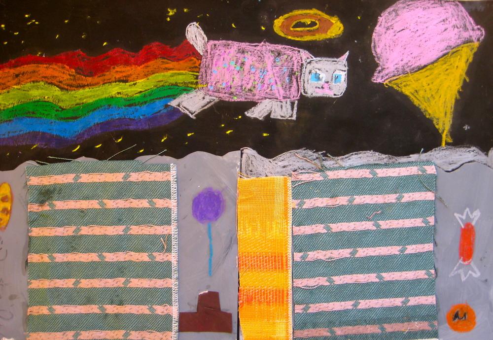 Space Landscape, Grade 3