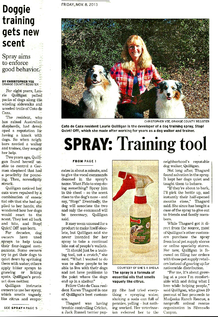 Doggie training gets new scent - from the Orange County Register