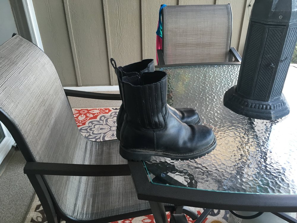 Apparently my boots didn't smell all that great either... I found them exiled to the deck.