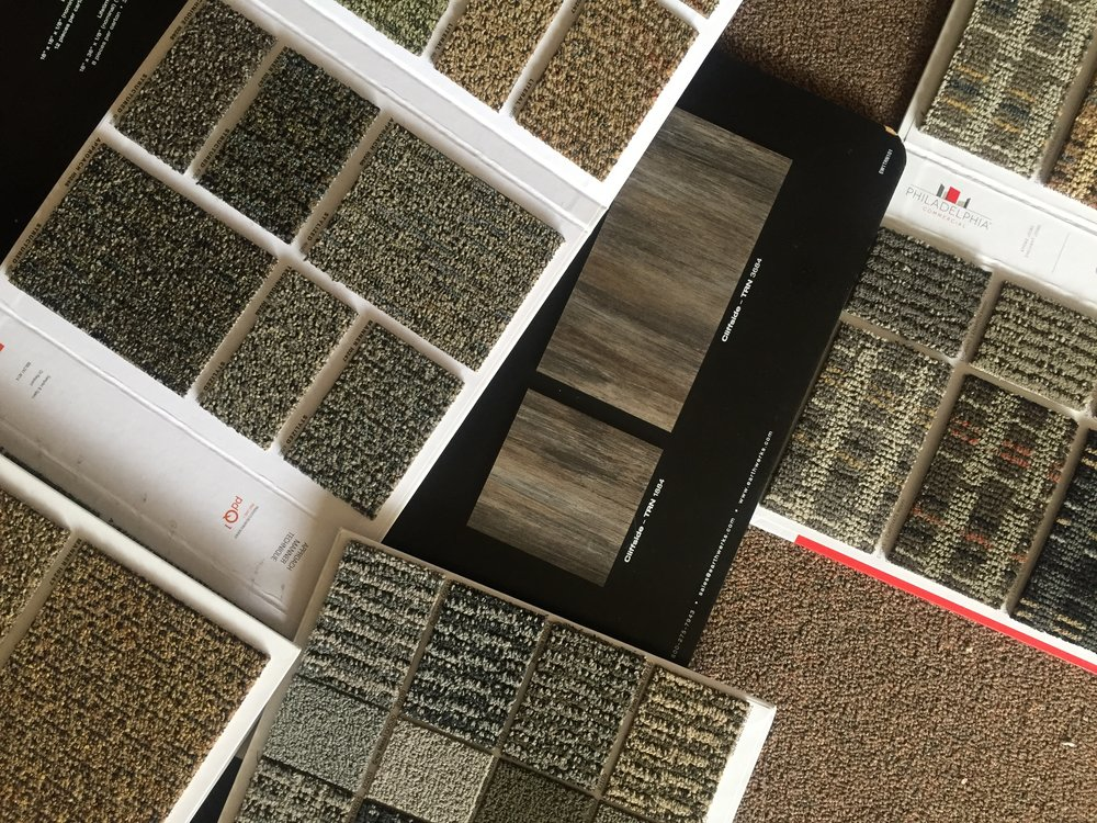 Flooring selections for commercial client 2017