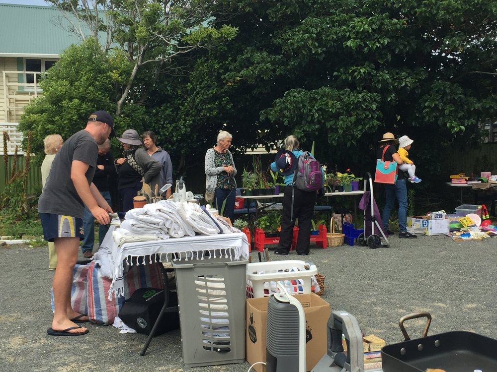 Photos from 2018's garage sale - lots on offer!