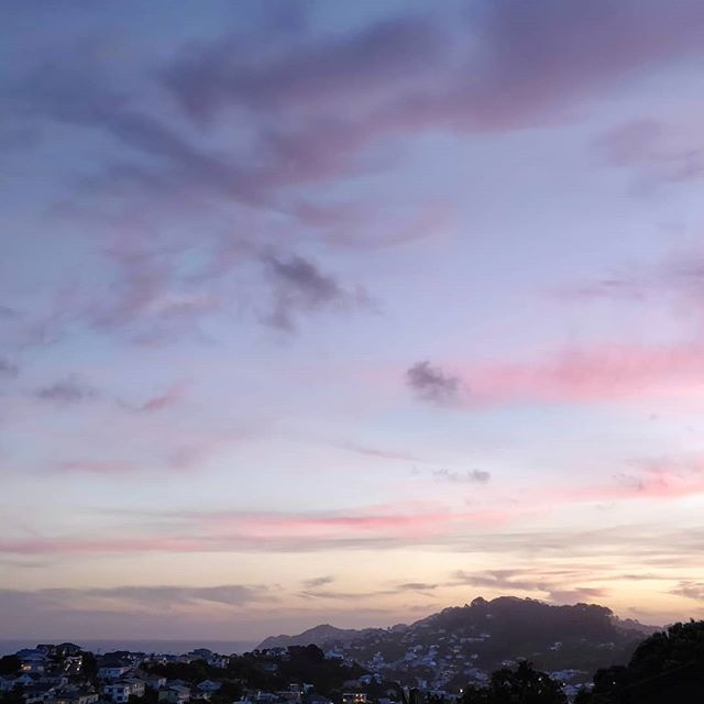 Drunk calling our exes is a thing of the past, let place to drunk calling our homies to tell them how much we love them. #sunset #view #postcard #kiwilife #travel #newzealand #wellington #hataitai #fieldsoffriends #hillsofhomies #imissyoualready #partyhard #rememberlastnight