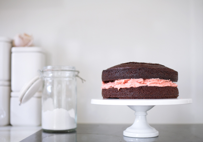 Birthday Cake with Roasted Strawberry Buttercream — Erika Rax