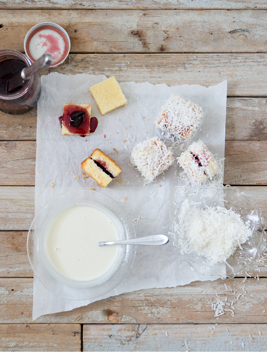 White Chocolate Lamingtons | Erika Rax