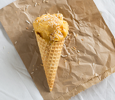 Salted Mango and Coconut Ice Cream