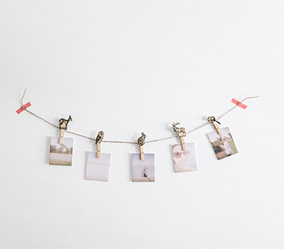 Photo Clip Garland