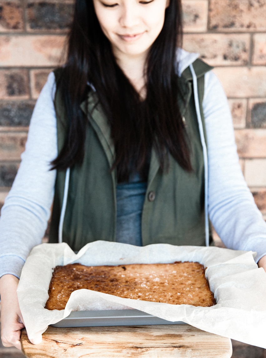 Meet Nia Neve / Burnt Butter Salted Caramel Slice | Erika Rax