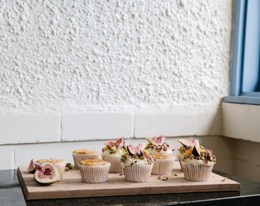 Meet Celeste Hulme / Persian Orange Cupcakes | Erika Rax