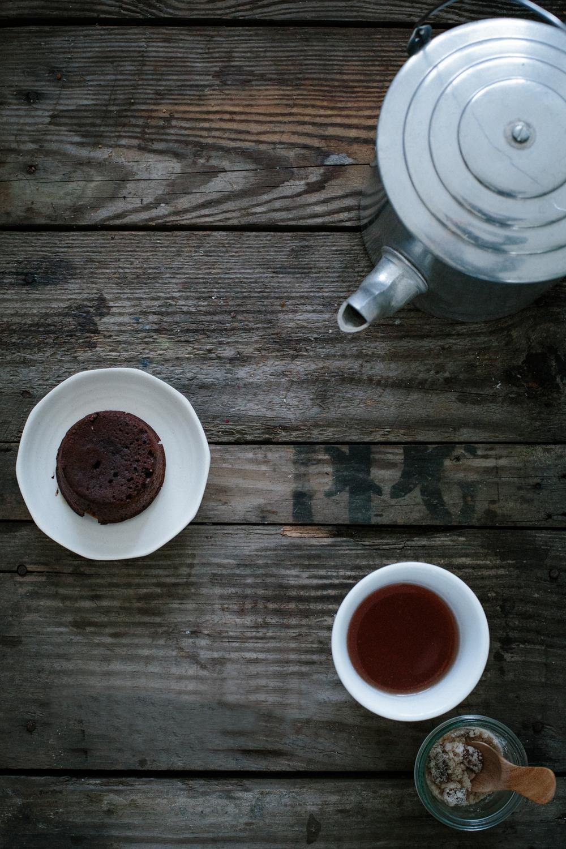 Ginger Caramel Lava Cakes | Erika Rax