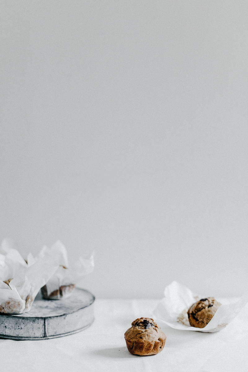 Banana + Chocolate Chunk Olive Oil Muffins | Erika Rax