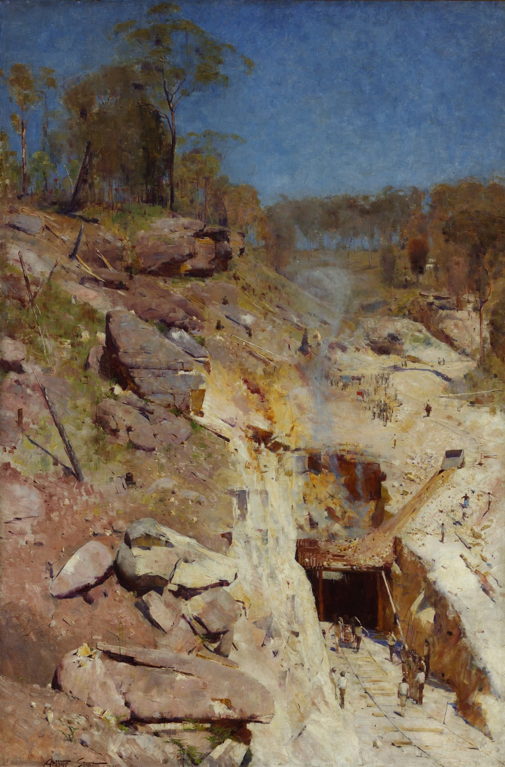 Arthur Streeton, Fire's On, 1891.  Oil on canvas.  183.8 x 122.5 cm.  Art Gallery of New South Wales, purchased 1893. Exhibition organised by the Royal Academy of Arts, London in partnership with the National Gallery of Australia.