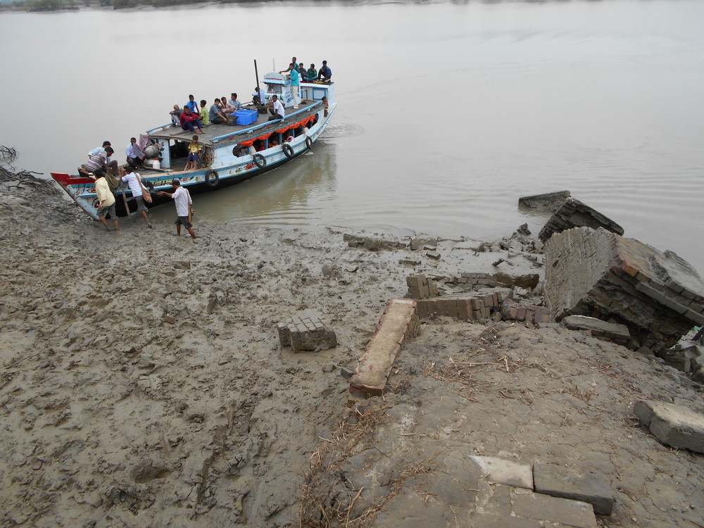 A broken ferry ghat