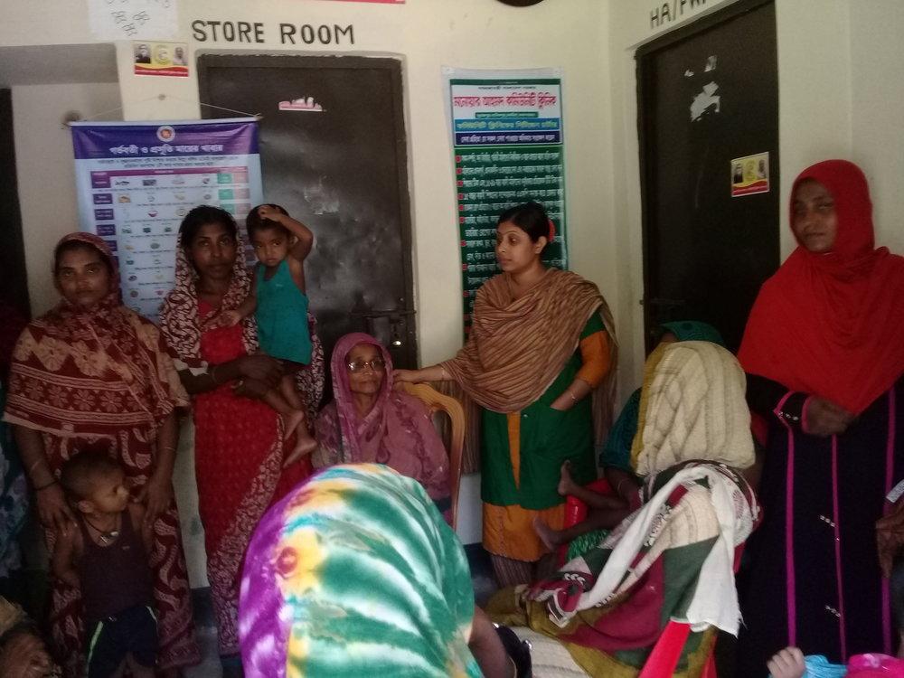 Health education at community clinic
