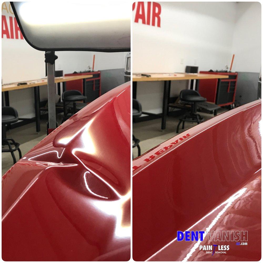 Extreme dent repair Ram tailgate.JPG