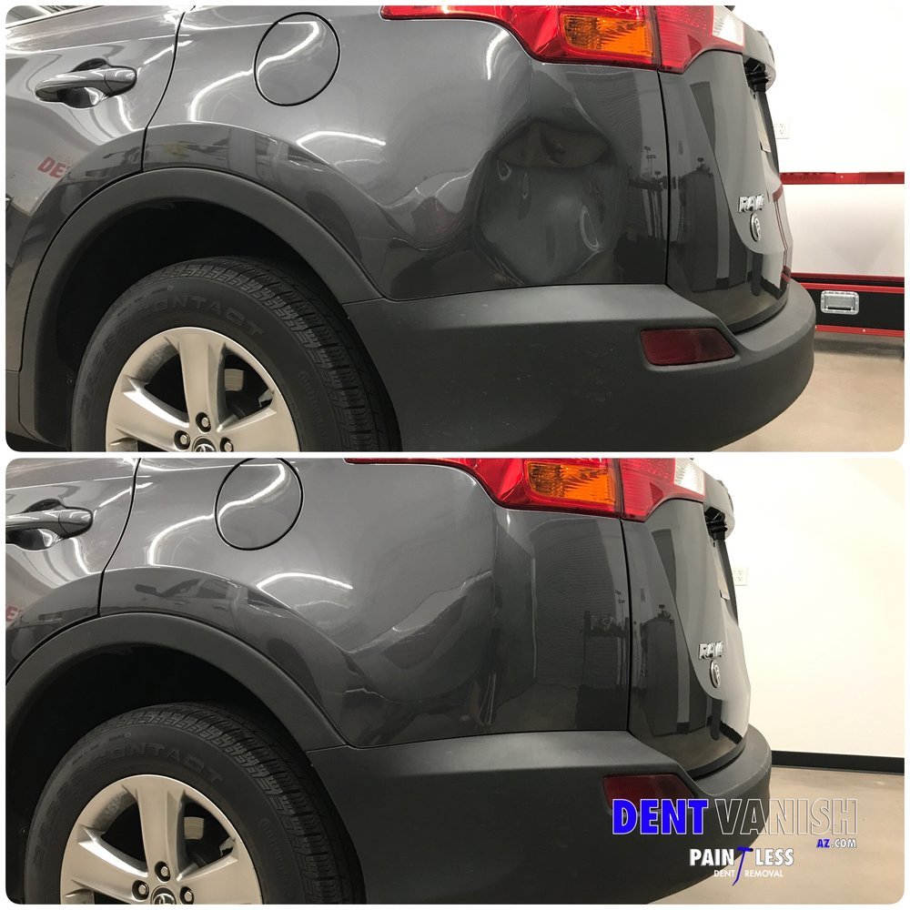 Huge dent on Rav 4.JPG