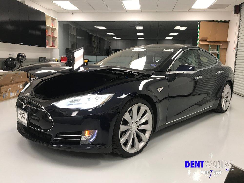 Tesla Hood Damage