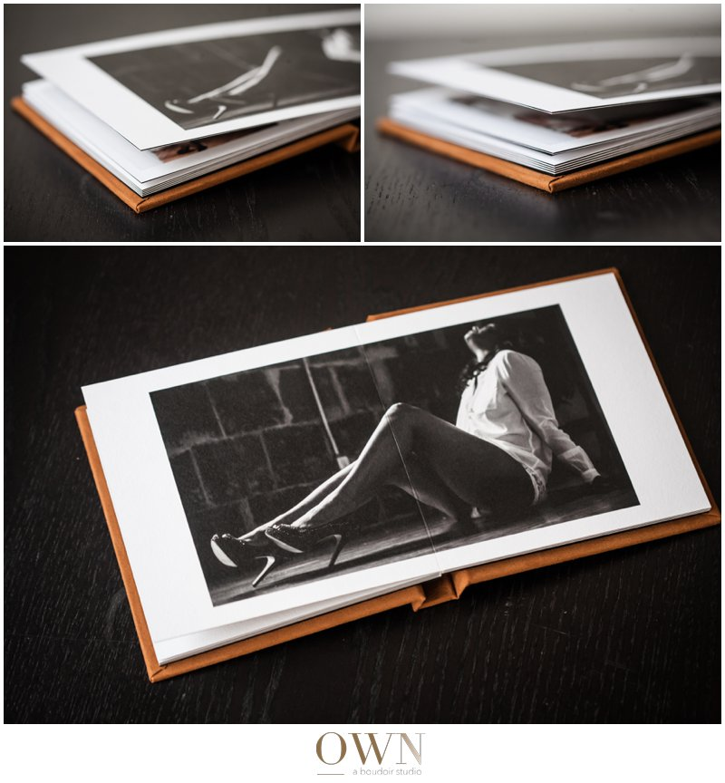 I love how thick the pages are. The pages in this album are matte, which I think is beautiful for boudoir photography.
