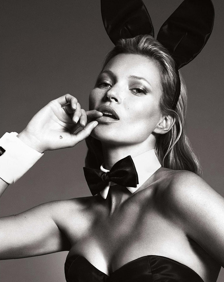 The opening image for Kate Moss's spread.