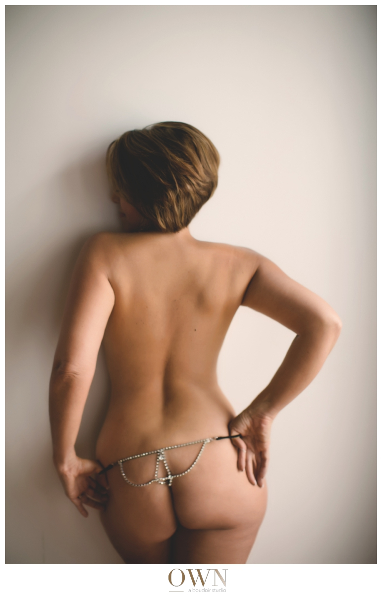 thong boudoir atlanta georgia short hair woman