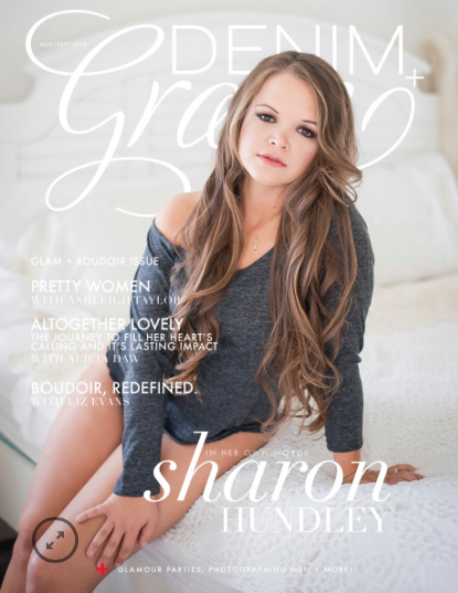 denim and grace magazine september own boudoir photography