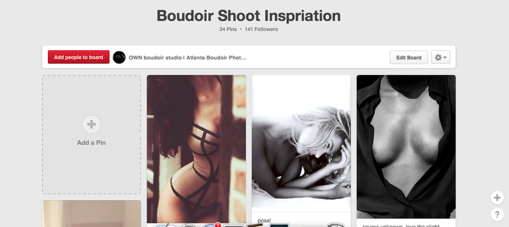 OWN boudoir pinterest board