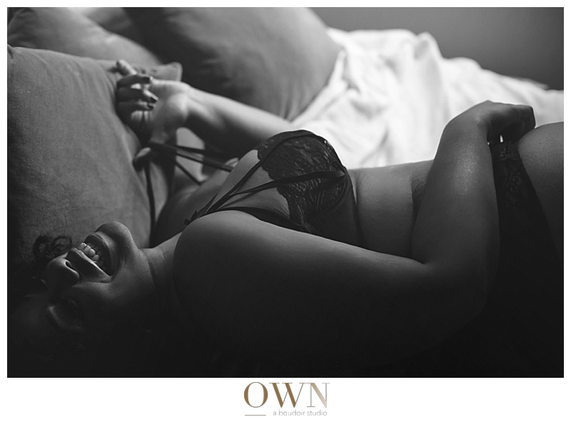 beautiful african american woman own boudoir