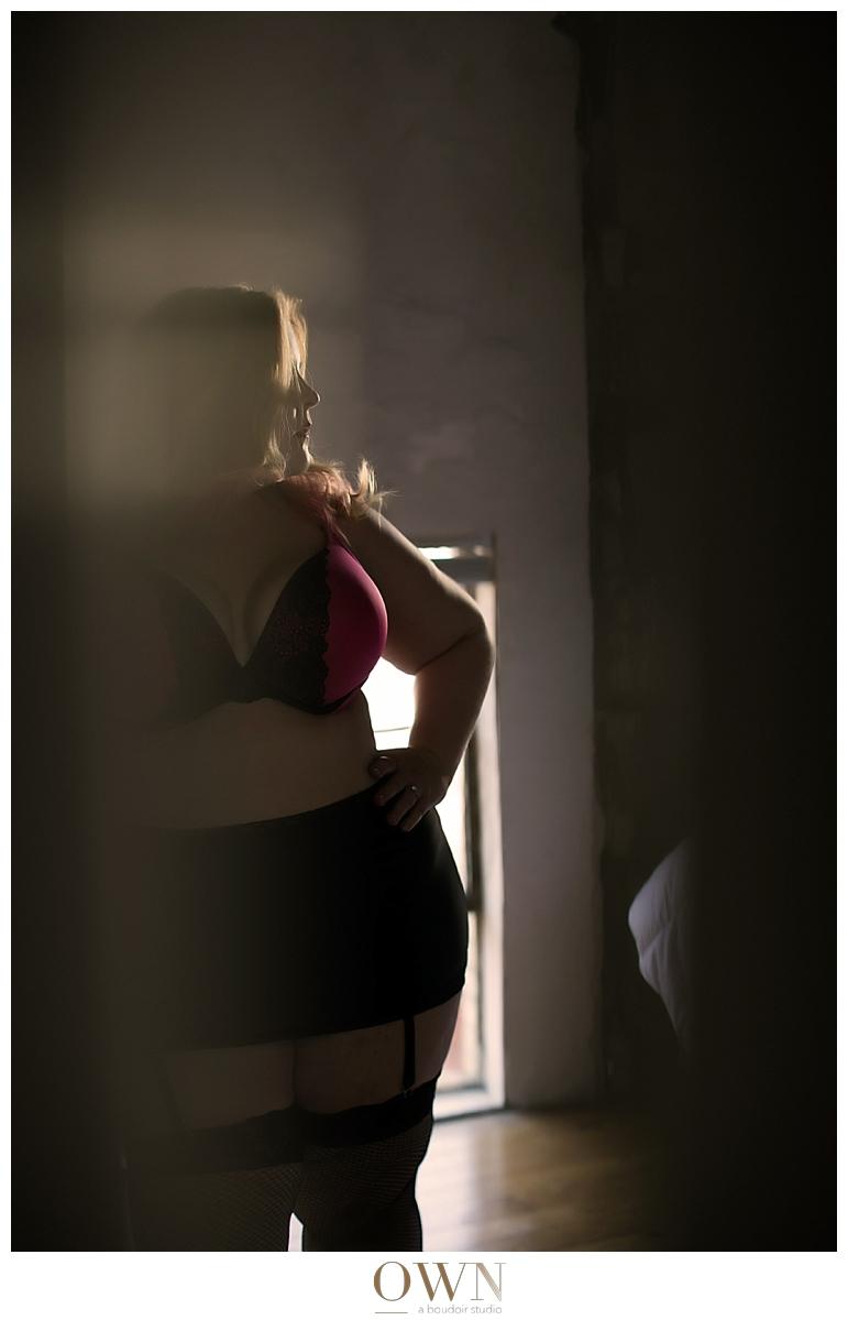 plus sized boudoir photographer atlanta, new york