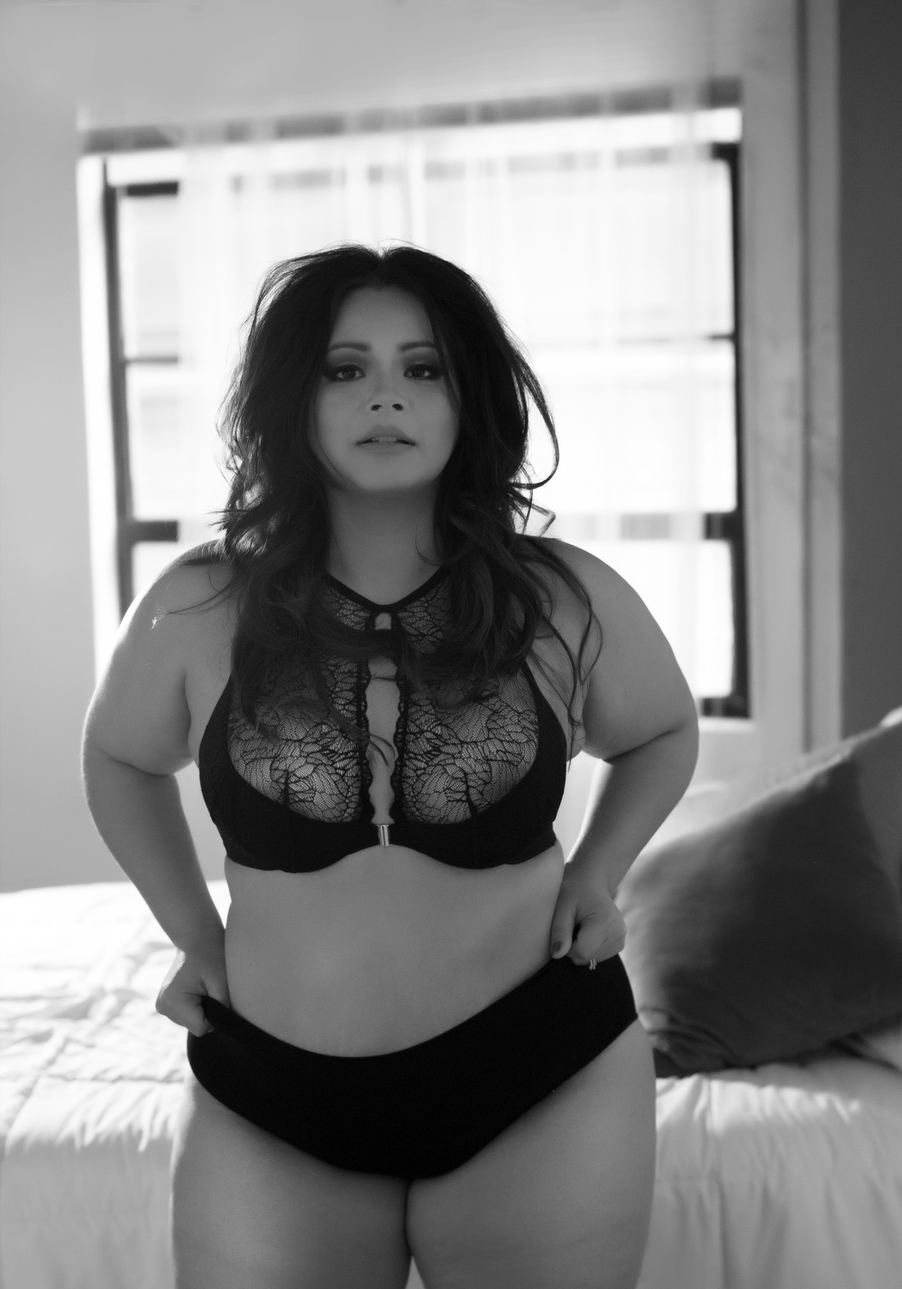 DC boudoir photographer plus sized full figure lane bryant lingerie curvy atlanta boudoir
