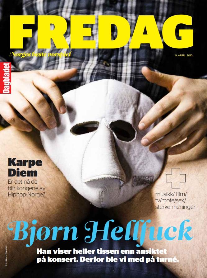 Bjørn Hellfuck Strengt tatt en reportasje, men først og fremst et portrett av en ganske sliten rocker. (Dagbladet FREDAG)