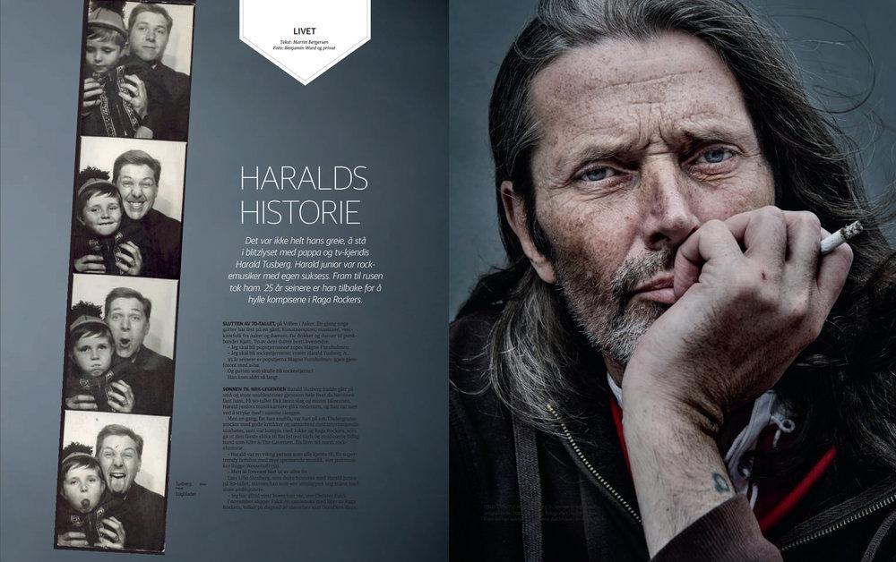 Haralds historie (2015) - Harald Tusberg Jr. var kjendisbarn og en av 80-tallets nesten-men-ikke-helt-rockere. På 90-tallet fikk han tilværelsen lagt i grus. Nå spiller han med Bugge Wesseltoft og bygger sakte men sikkert opp livet sitt igjen.