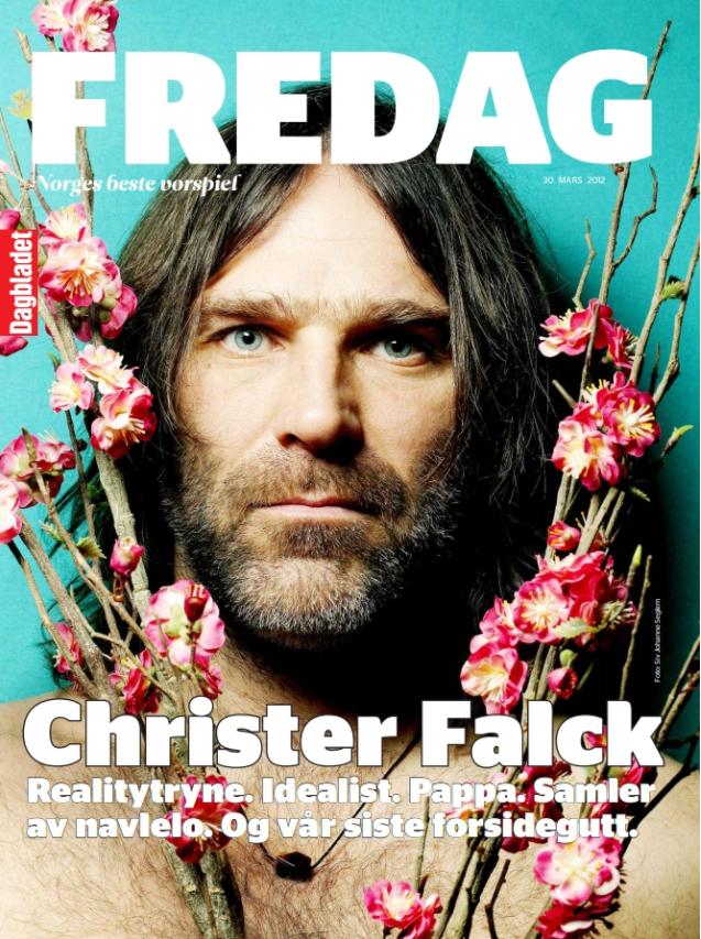Falckeblikk (2012) - Altmuligmannen Christer Falck fikk den siste Dagbladet Fredag-forsida vår.