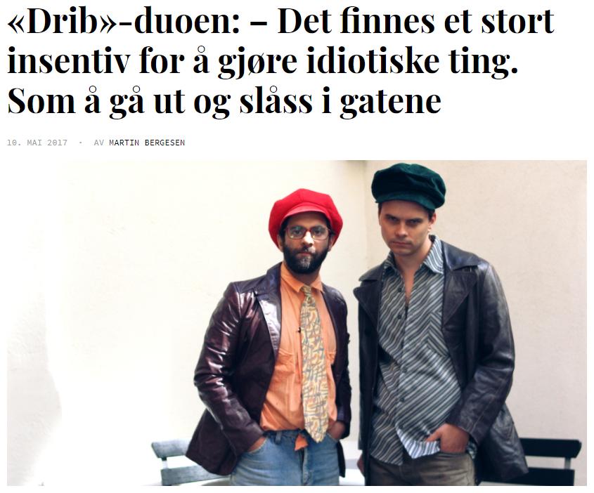 Drib-luringene (2017) - Intervju for Filter Film og TV. Er Drib den sanne historien om da en norsk komiker skulle fronte et stort energidrikkmerke, eller bare jug fra ende til annen? Døm selv.