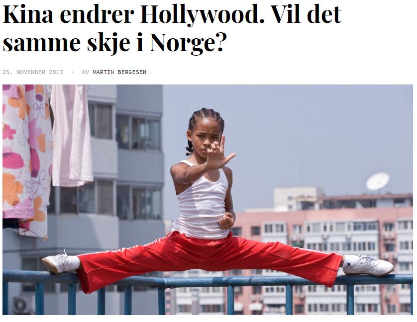 Norsk film i Kina (2017) - Reportasje for Filter Film og TV. Hva må til for å få tilgang til verdens største filmmarked? Og hvor langt er norske filmskapere villige til å strekke seg ?