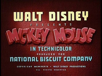 "Title card for ""Mickey's Surprise Party"""
