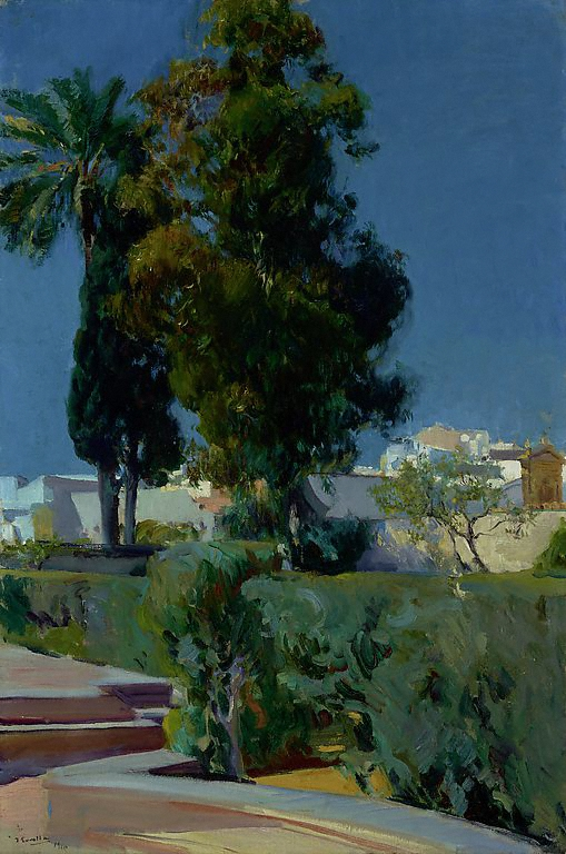 Book Cover Corner of the Garden 1910 Joaquin Sorolla y Bastida Digital image courtesy of the Getty's Open Content Program.JPG