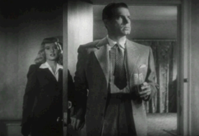Barbara Stanwyck as Phyllis Dietrichson and Fred MacMurray as Walter Neff in Double Indemnity (Image is in public domain)