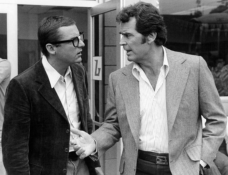 James Garner (R) as Jim Rockford in The Rockford Files (image is in public domain)