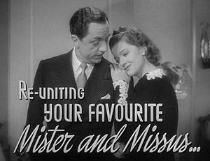 The Thin Man movie trailer with William Powell & Myrna Loy (image is in public domain)