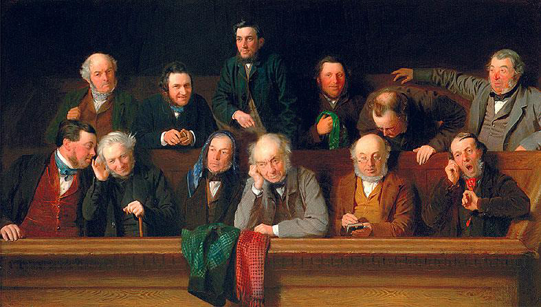 """The Jury"" by John Morgan, 1861 (image is in the public domain)"