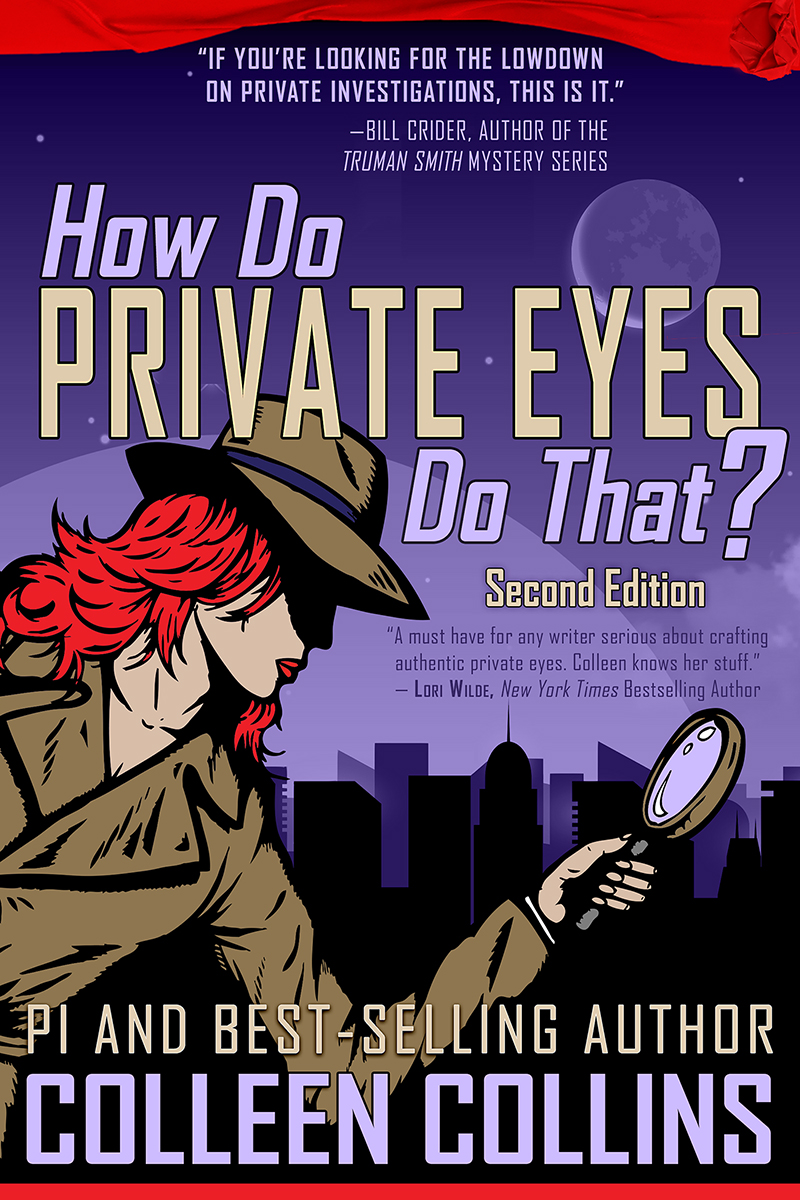 Book Cover  How Do Private Eyes Do That?  by Colleen Collins (image is copyrighted)