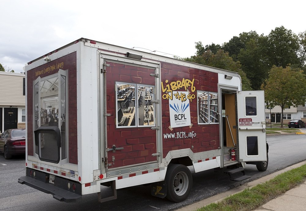 Library on the Go and Read Rover, part of the mobile library serivice for the Public Library System in Baltimore County, MD by Carol Highsmith.jpg
