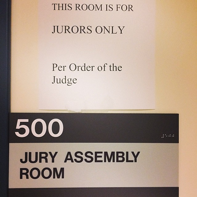 "Not convenient timing but excited to do my ""duty"" today. #juryduty"