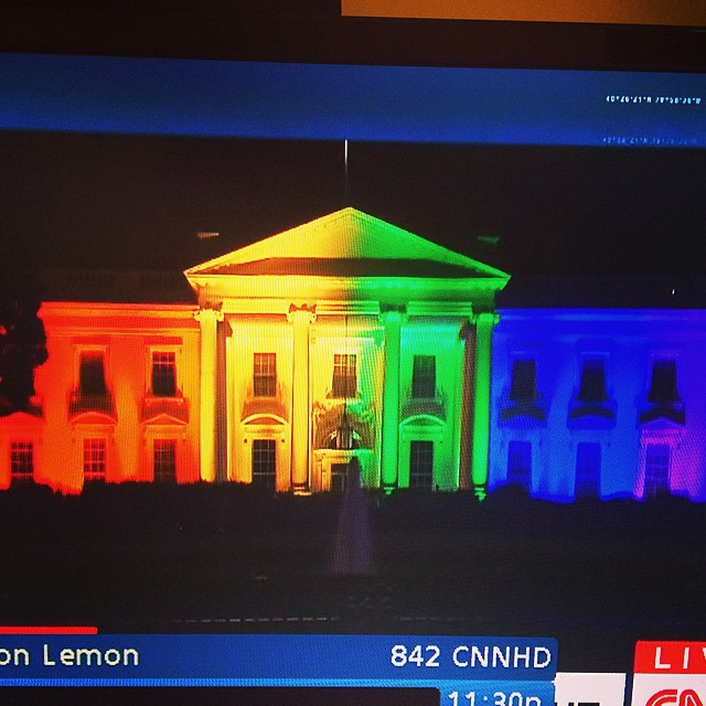 An amazing sight, an amazing day. Way to go USA. #lovewins